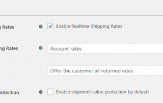 Manage settings pertaining to the cost of your shipments